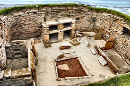 Загадочная неолитическая островная деревня Скара-Брей.